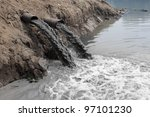 water pollution in river... | Shutterstock . vector #97101230