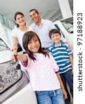 family at the dealership buying ... | Shutterstock . vector #97188923