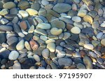 Stones Under Water. Background.