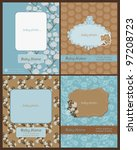 set of baby arrival cards  ... | Shutterstock .eps vector #97208723