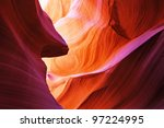 The Antelope Canyon, Page, Arizona, USA - stock photo