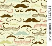 art deco mustache seamless...   Shutterstock .eps vector #97227155