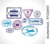 grunge stamps design elements