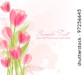 floral background with tulips | Shutterstock .eps vector #97256645