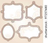 henna vintage frames mehndi...   Shutterstock .eps vector #97257680