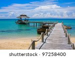 beautiful tropical beach in koh ... | Shutterstock . vector #97258400
