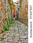 Old Narrow Alley In Tuscan...