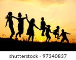 beautiful scene of children...