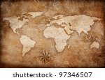 grunge world map background... | Shutterstock . vector #97346507
