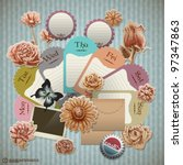 vector retro scrapbook element... | Shutterstock .eps vector #97347863