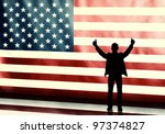 silhouette of a thumbs up... | Shutterstock . vector #97374827