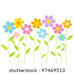 spring flowers growing. vector... | Shutterstock .eps vector #97469513