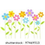 spring flowers growing. vector... | Shutterstock .eps vector #97469513