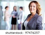 image of pretty business leader ... | Shutterstock . vector #97476257