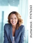 image of happy businesswoman... | Shutterstock . vector #97476263