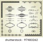 lots of design elements  labels ... | Shutterstock . vector #97483262