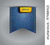 vector flap jean blue fabric | Shutterstock .eps vector #97488413
