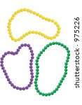 mardi gras beads in the classic ... | Shutterstock . vector #975226
