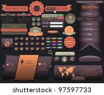 web elements vector design set...