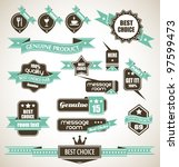 premium quality labels  ... | Shutterstock .eps vector #97599473