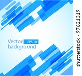 abstract squares background | Shutterstock .eps vector #97621319