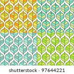 set of four seasons leaf pattern | Shutterstock .eps vector #97644221