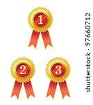 badge ribbon | Shutterstock . vector #97660712