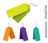 doubled price tags | Shutterstock . vector #97660763
