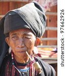 Small photo of Aku woman - Myanmar - Kengtong province