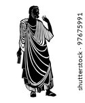 The Greek thinker - stock vector