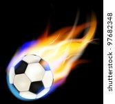 football on fire  vector... | Shutterstock .eps vector #97682348