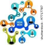 social media and network... | Shutterstock .eps vector #97717787
