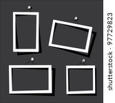 white frames on the black wall. ... | Shutterstock .eps vector #97729823
