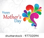 abstract mother day background vector illustration - stock vector
