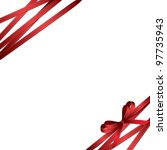 red ribbon and bow background ... | Shutterstock .eps vector #97735943