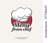 restaurant menu design | Shutterstock .eps vector #97740107