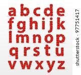 red roses  font        ... | Shutterstock .eps vector #97751417