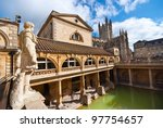 Roman Baths  Bath  Somerset  Uk