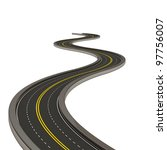 abstract asphalted road... | Shutterstock . vector #97756007