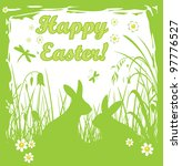 Green Easter Card