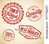 vector retro red vintage stamps ... | Shutterstock .eps vector #97778357