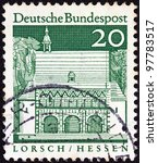 germany   circa 1966  a stamp... | Shutterstock . vector #97783517