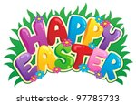 happy easter sign theme image 2 ...   Shutterstock .eps vector #97783733
