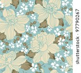 Abstract Whimsical Floral...