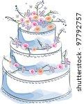 wedding cake | Shutterstock .eps vector #97792757