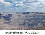 Coal mine - mining opencast - stock photo