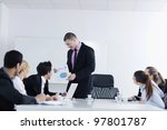 business people  team  at a...   Shutterstock . vector #97801787