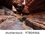 Karijini national park Hancock Gorge, Western Australia - stock photo