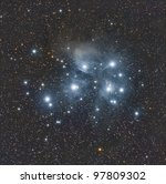 The Pleiades or Seven Sisters - stock photo