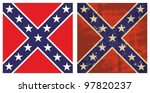 Confederate Battle Flag. Grung...